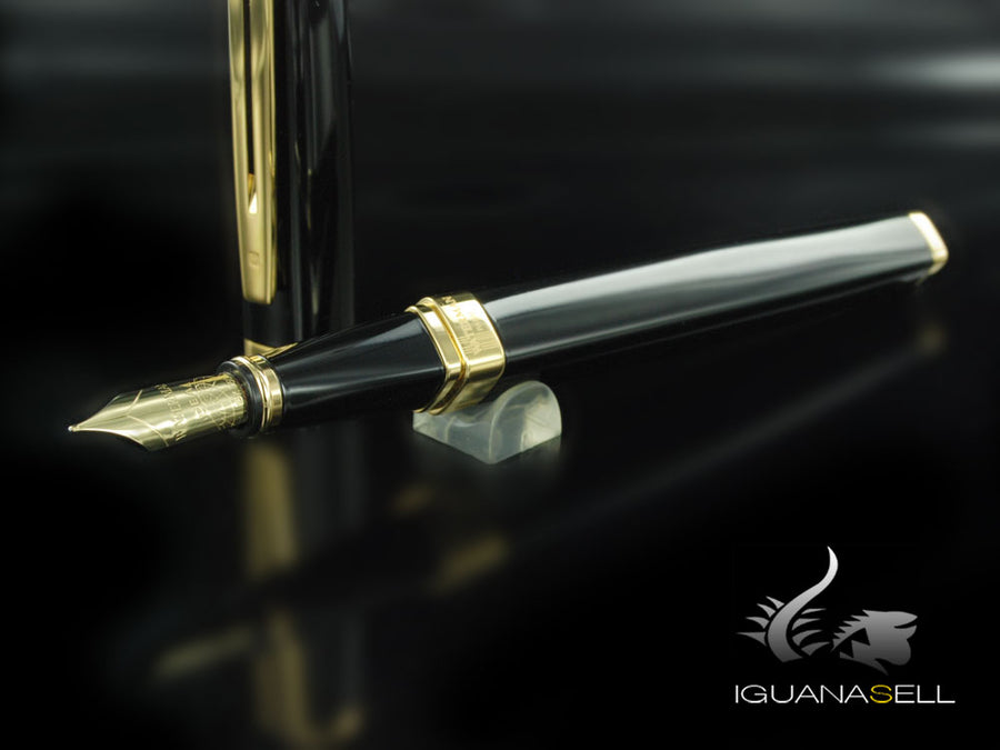 Waterman Fountain Pen Exception Slim Black -Gold Trims- S0636940 Waterman Fountain Pen