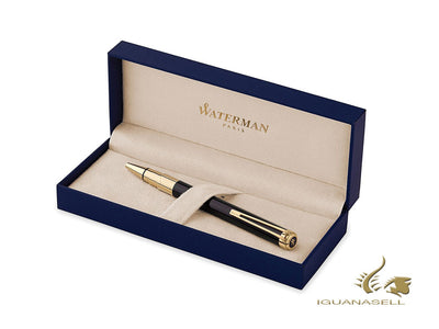 Waterman Perspective Ballpoint pen, Lacquer, Gold trim, Black, S0830900