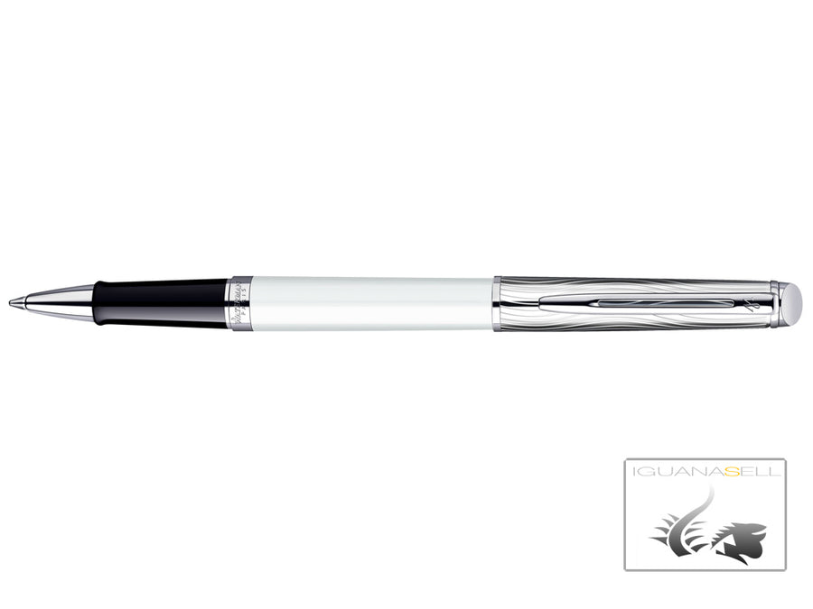 Waterman Rollerball Pen Hémisphère Deluxe White -Palladium and Lacquer