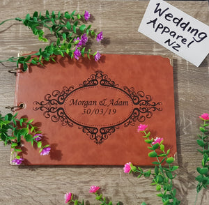 Leather Guestbook - multiple designs