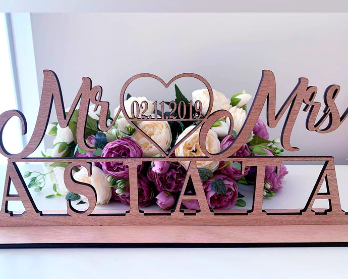 Table Name- Personalised name and date
