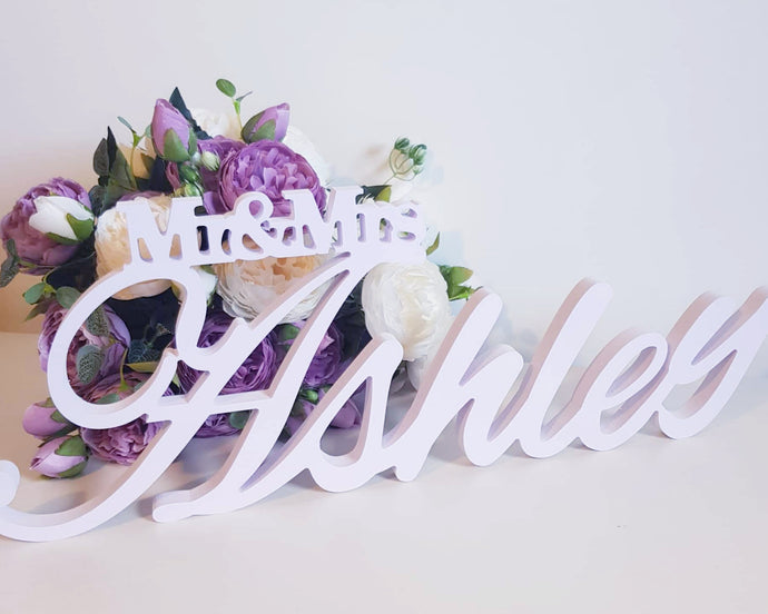 Table Name- personalised cursive