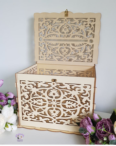 Elegant Wooden Cards Box & Lock