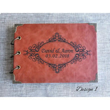 Load image into Gallery viewer, Leather Guestbook - multiple designs