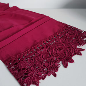 Burgundy Lace Robes