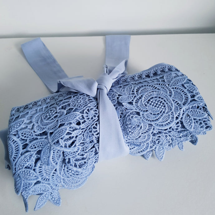 Baby Blue Lace bridal robes