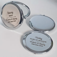 Load image into Gallery viewer, Personalised compact mirrors