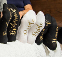 Load image into Gallery viewer, Bridal Party Socks