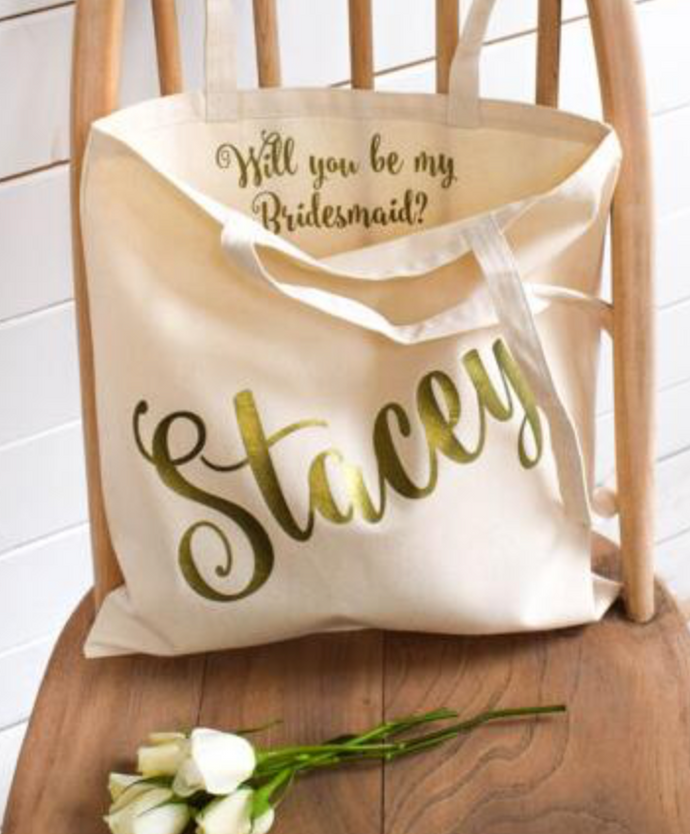Personalised Totes - Will You Be My...