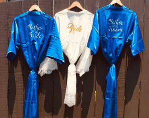Royal Blue - Bridal robes for the entire team