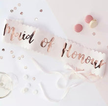 Load image into Gallery viewer, Bridal sash - Rose Gold collection for the whole party