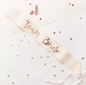 Bridal sash - Rose Gold collection for the whole party