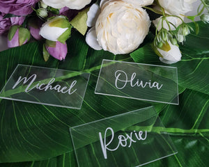 Rectangular Acrylic Place Name