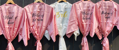 Pink - Bridal robes for the entire team