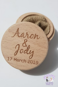 Simple names Ring Box