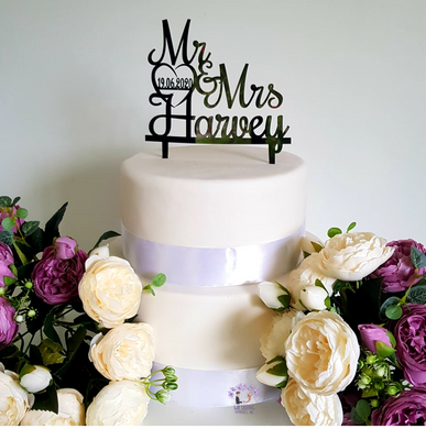Personalised Cake Topper - Layered curves