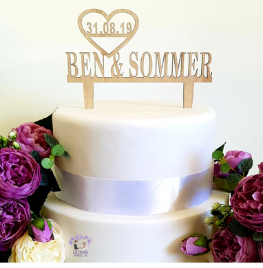Personalised cake topper- Name & date
