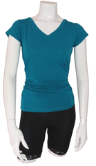 Bamboo V-Neck - shown in Teal