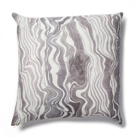 Marbled Stripe Pillow in Gray-lilac