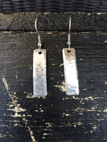 Rectangle Textured Earrings