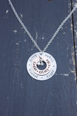 Open Circle Mixed Metal Necklace