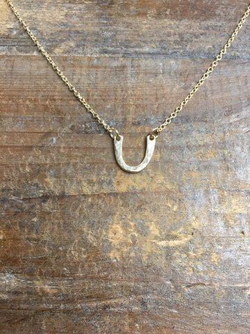 Gold Filled Horseshoe Pendant