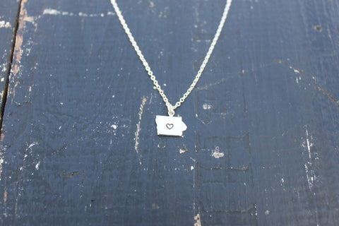 I heart Iowa Necklace