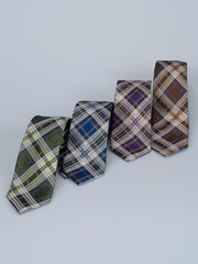 Bruno Piatelli Jewel Plaid Silk Tie
