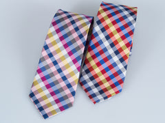 Bruno Piatelli Candy Plaid Silk Tie