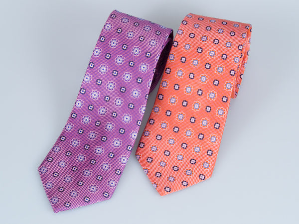 Bruno Piatelli Flower Medallion Silk Tie