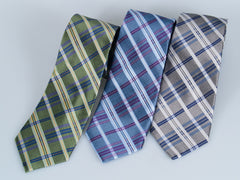 Bruno Piatelli Basketweave Plaid Silk Tie