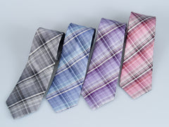 Bruno Piatelli Slim Plaid Silk Tie