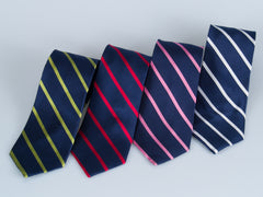 Bruno Piatelli Classic Preppy Stripe Silk Tie