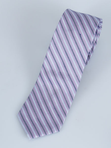 Bruno Piatelli Linen/Silk Stripe Slim Tie