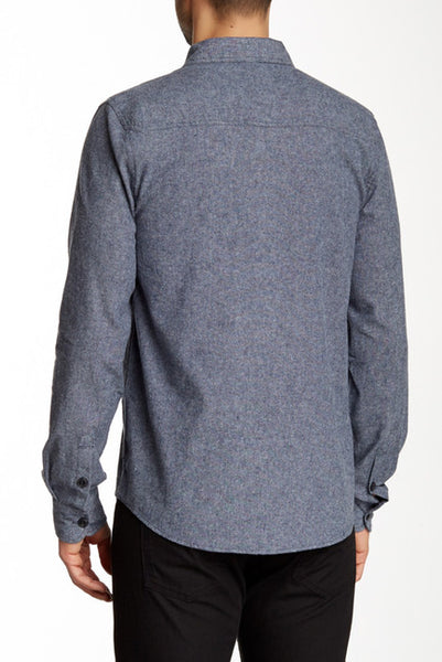 Threads 4 Thought Long Sleeve Peached Chambray Woven Shirt Denim Blue