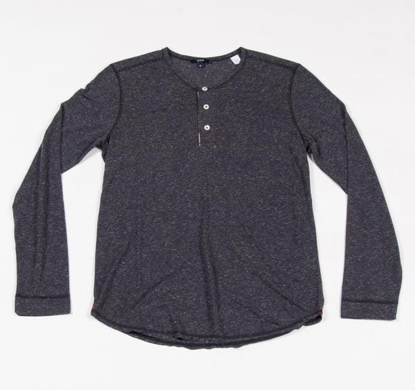Benson Long Sleeve Henley Heather Charcoal