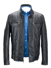 Faux Leather Jacket Black