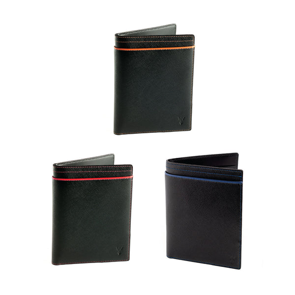Wurkin Stiffs RFID Blocking Passport Wallet Black Red