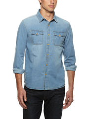 JACHS NY Distressed Chambray Shirt