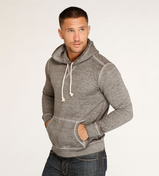 Threads 4 Thought Burnout Pullover Hoodie Heather Grey