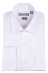 Christopher Lena Regular Fit French Cuff Wrinkle Free Dress Shirt White
