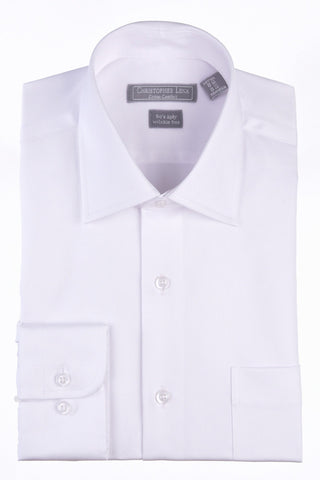 Christopher Lena Regular Fit Wrinkle Free Dress Shirt White