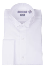 Christopher Lena Regular Fit French Cuff Wing Collar Wrinkle Free Tuxedo Shirt White
