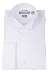 Christopher Lena Contemporary Fit French Cuff Wing Collar Wrinkle Free Tuxedo Shirt White