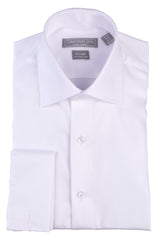 Christopher Lena Regular Fit French Cuff Wrinkle Free Tuxedo Shirt White