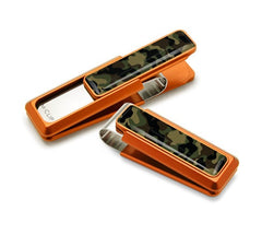 M-Clip Orange with Camouflage Money Clip