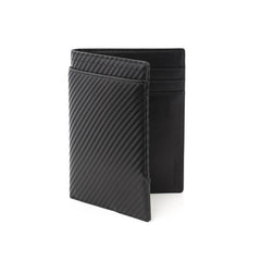 Wurkin Stiffs Carbon Slim RFID Blocking Passport Wallet Black