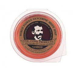 Col. Conk Glycerin Shave Soap Puck Amber 2.25oz