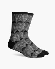 Richer Poorer Cordon Double Cylinder Knit Cotton Socks Charcoal
