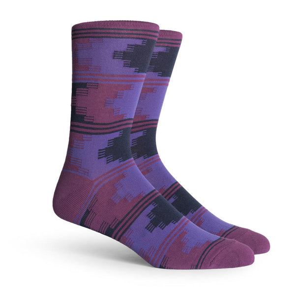 Richer Poorer Counselor Western Socks Purple